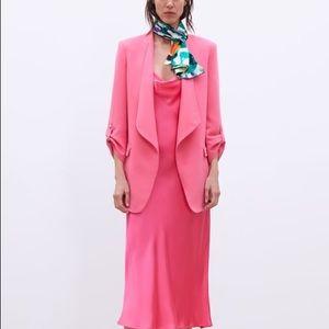 Zara pink jacket with lapels